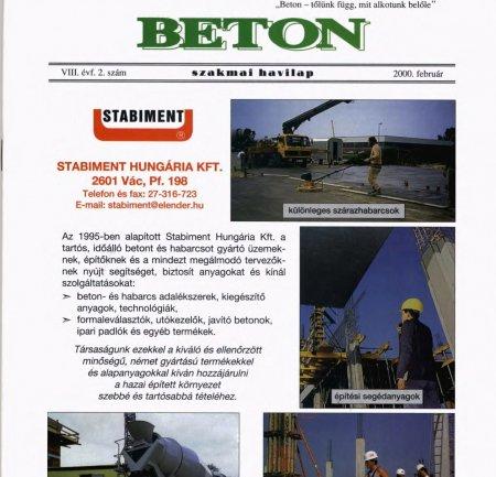 2000. február VIII. évf. 2. szám